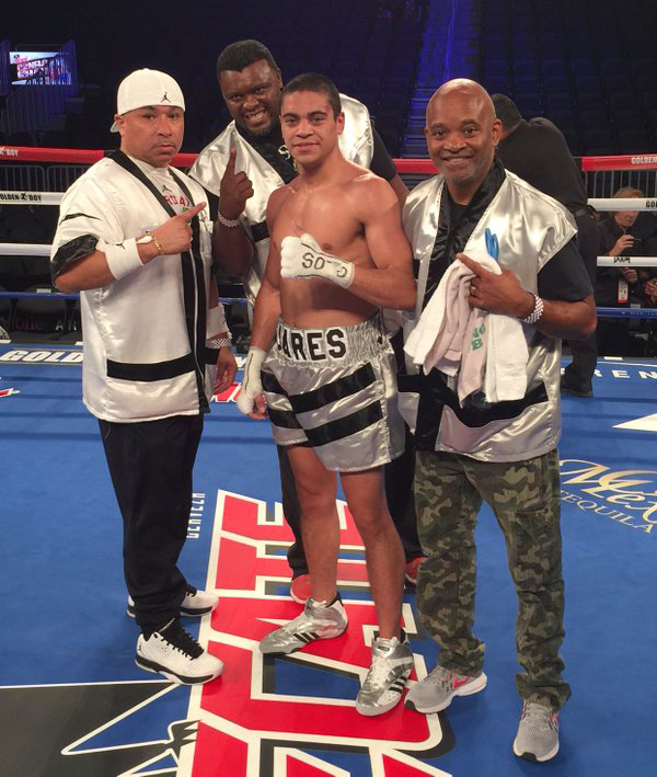 David Mijares won his professional debut on a big stage Saturday in Las Vegas. Photo: Golden Boy Promotions