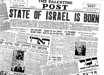 Jerusalem Post front page in 1948