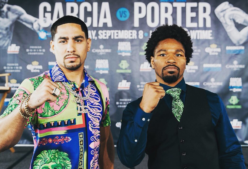 Porter vs Garcia is a true 50-50 match. Both have the tools to turn the fight to their advantage, so it comes down to who dictates the style matchup. Photo: Courtesy Showtime Boxing