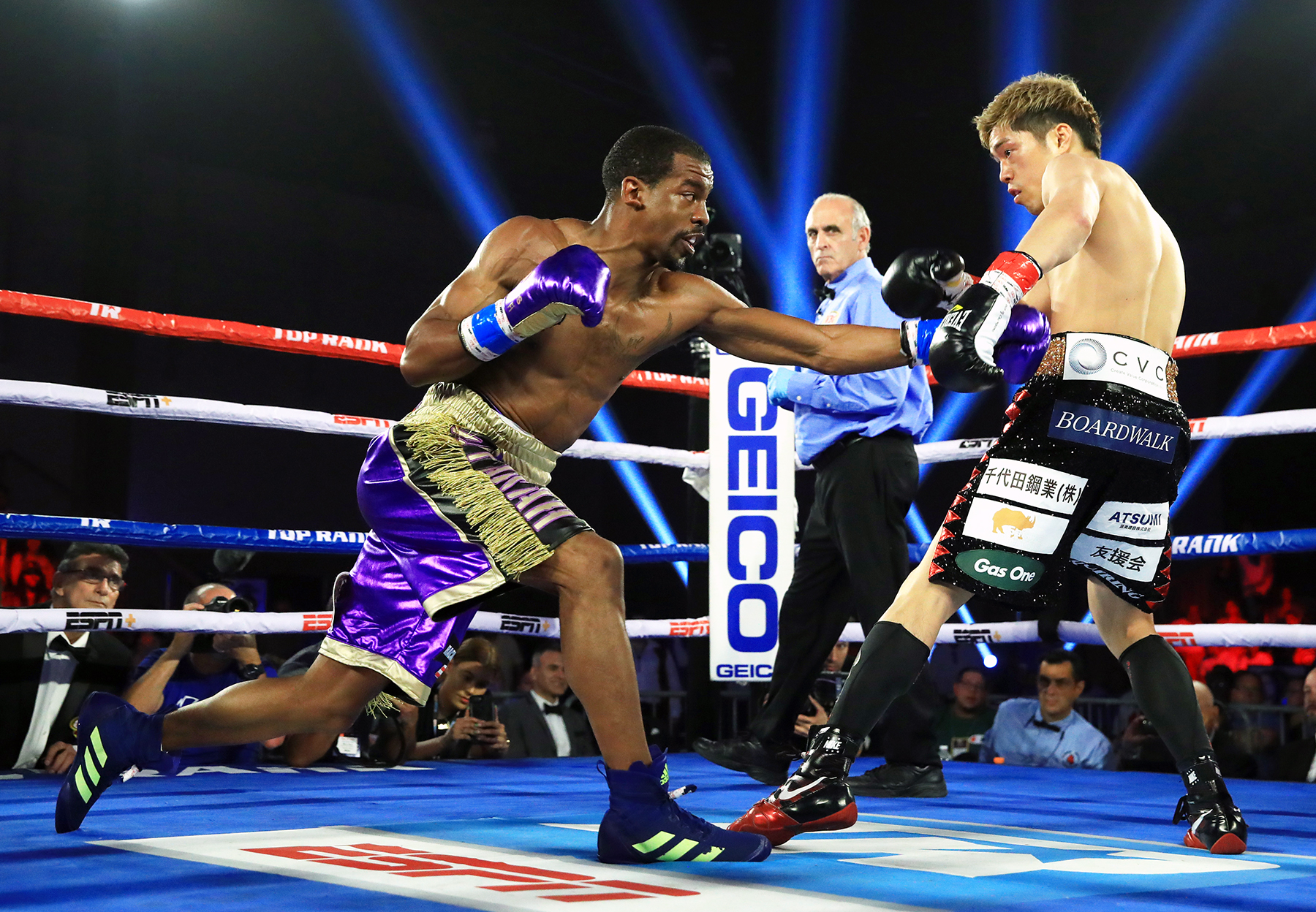 Jamel Herring's defensive skills have greatly improved under trainer Brian McIntrye. Photo: Ed Mulholland, Matchroom Boxing