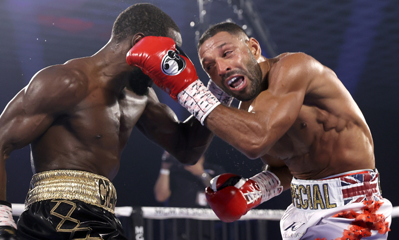 Terence Crawford blasted through Kell Brook in four rounds on Saturday. Photo: Mikey Williams/Top Rank Inc via Getty Images Terence Crawford blasts