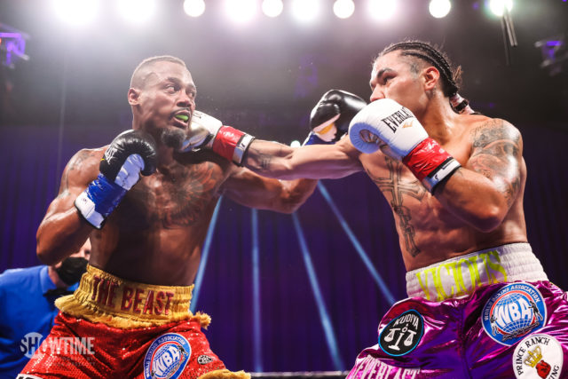 Undefeated Ra'eese Aleem hopes to get a title fight after getting the better of Vic Pasillas. Photo: Amanda Wescott, Showtime Boxing